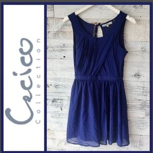 Cecico Blue Dress with Open Back